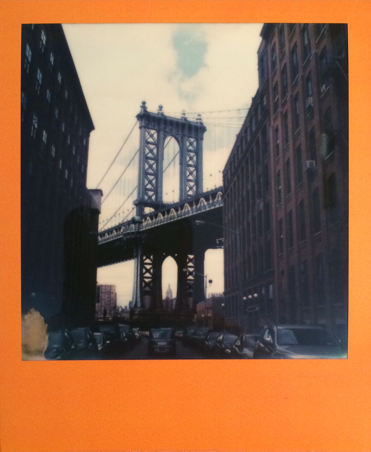 Manhattan Bridge in Dumbo Polaroid