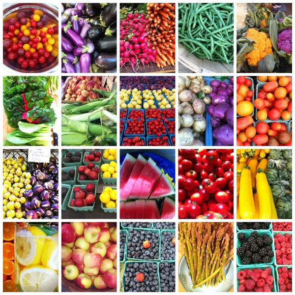 Fruit and Vegetables collected from various Farmer's Markets in the region, from New York to Boston.