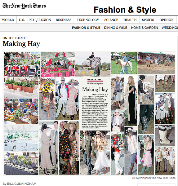 Bill covers the Hampton Classic each year, and gives great coverage like this spread above.