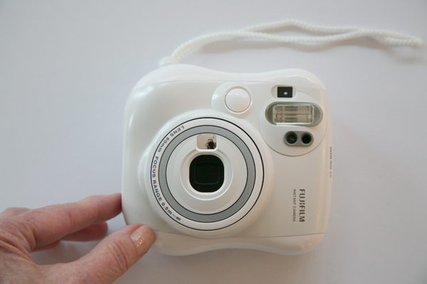 Isn't this camera so cute and white....and instant.