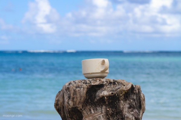 Cup of Joe by the beach.