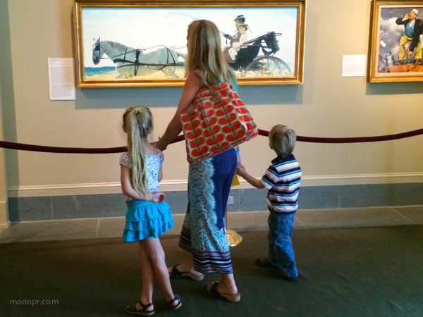 Family at the Norman Rockwell Museum.