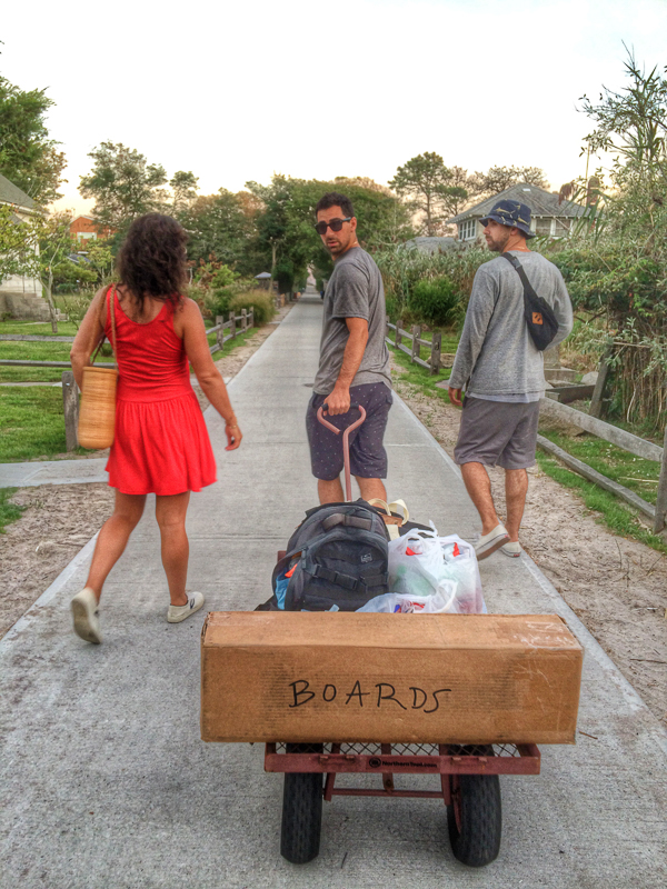 Say goodbye to summer ~ Stef, Raffie and Phil. Plus the skateboards they created for BeliefNYC.