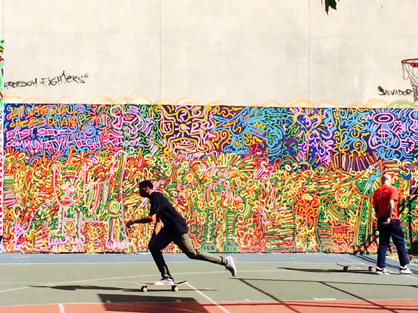 A cool mural on 12th Street.  Smith took this photograph for me.