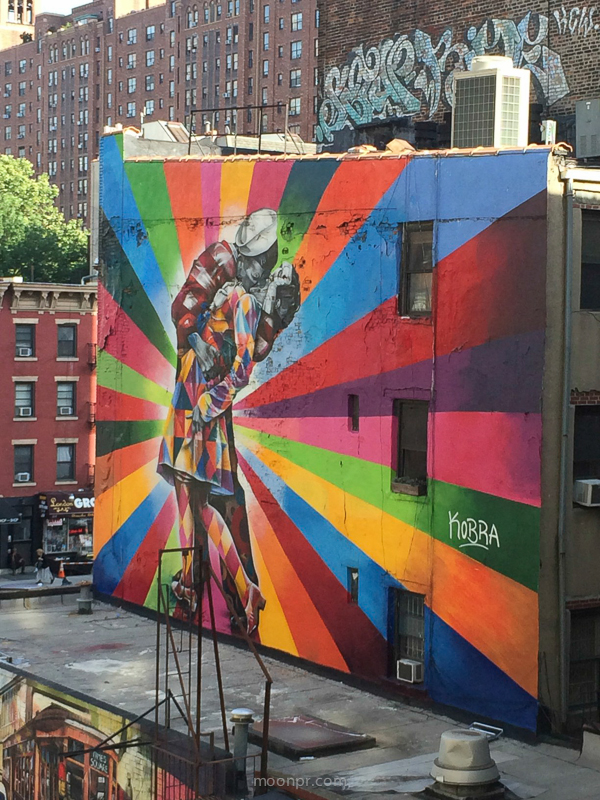 Highline with mural by KOBRA