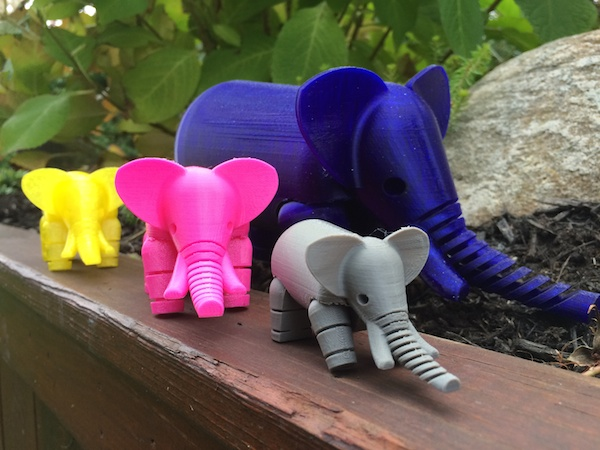 Jenifer Howard with MakerBot created this herd of Elephants for me upon my return from Africa.