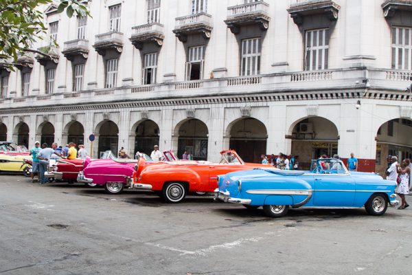 The taxi stand in Old Havana