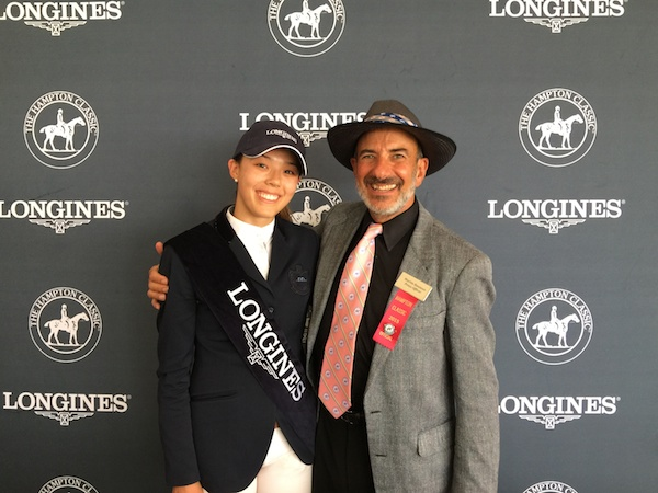 Karen Polle, winner of the $250,000 Grand Prix, with Marty Bauman