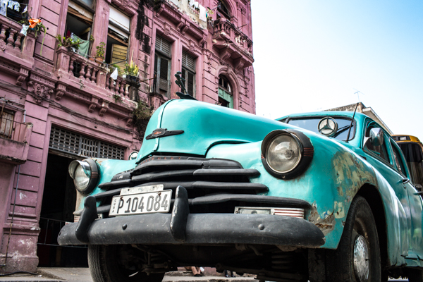 Turquoise and pink in Havana, Cuba by ©Nancy Moon