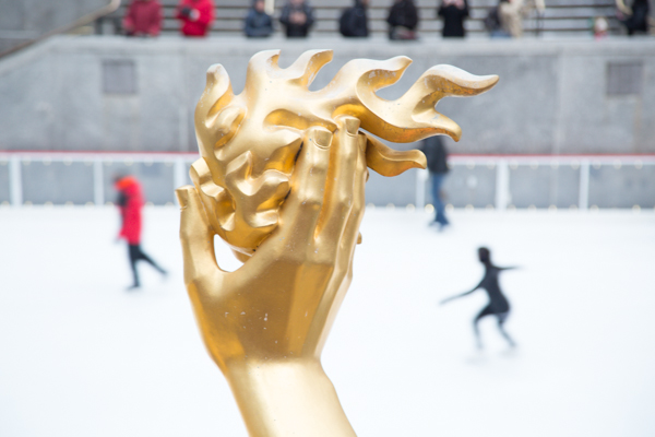 The skating rink at Rockefeller Center in NYC by ©Nancy Moon