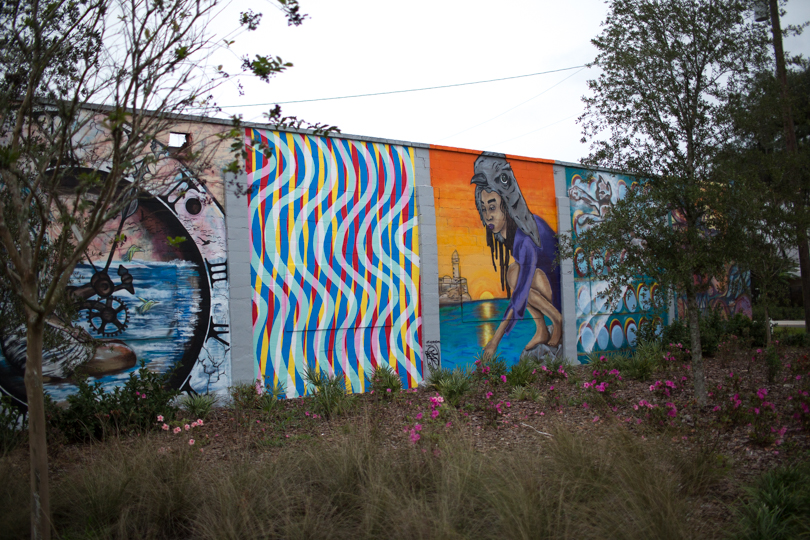 SW Depot Avenue wall mural {Gainesville, Florida}