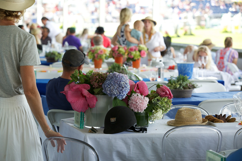 That summer table at the horse show
