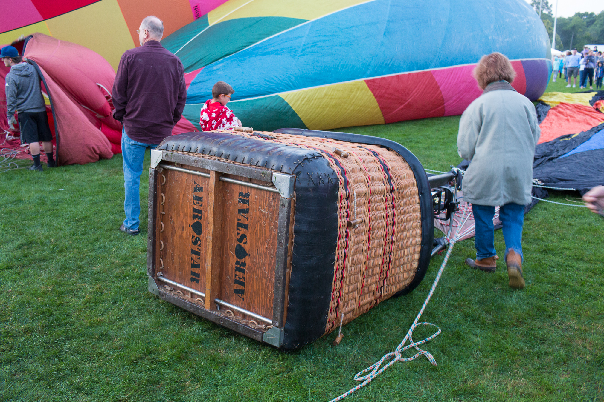 Aerostar basket in a hot air balloon
