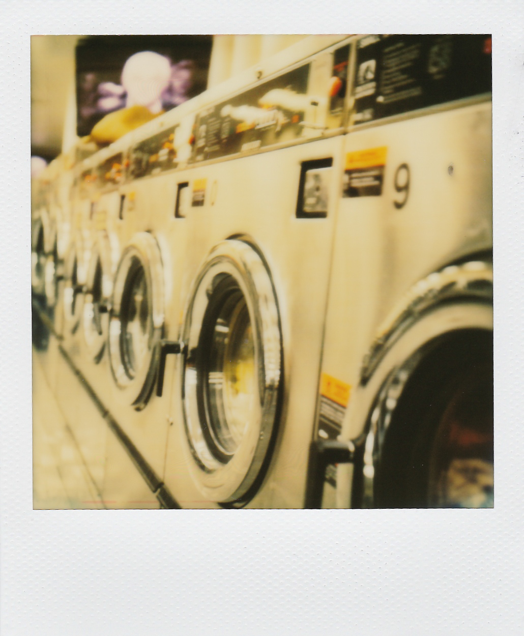 Laundromat in Astoria, Queens - Polaroid